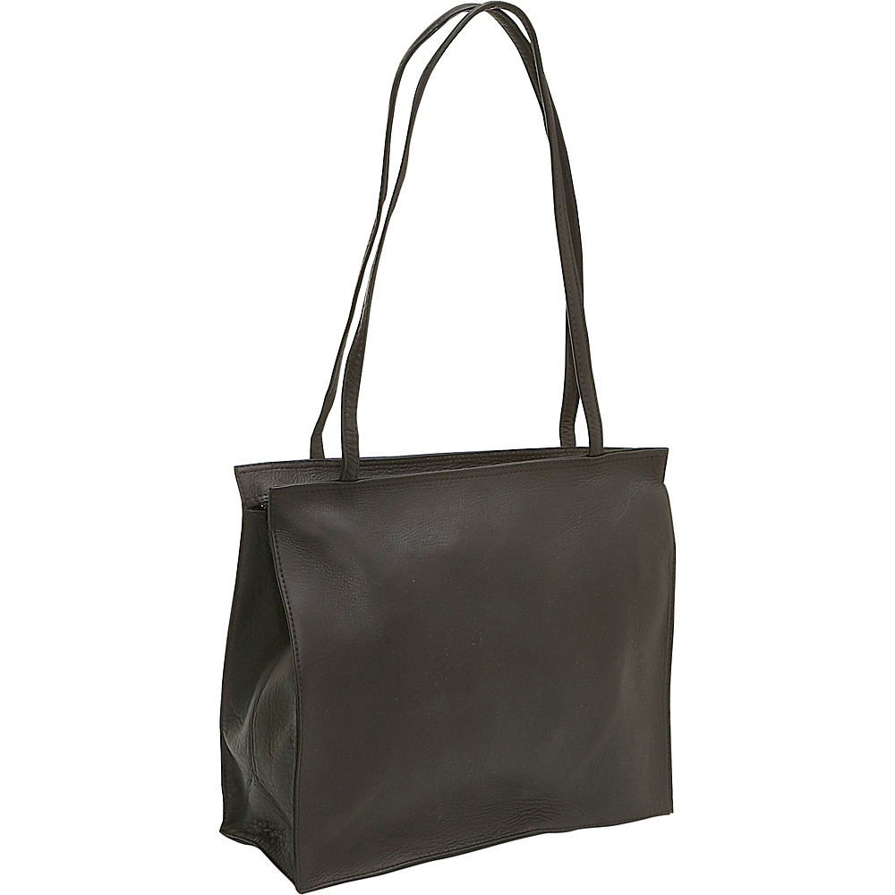 Le Donne Leather Simple Tote - Caf - Handbags, Leather Handbags