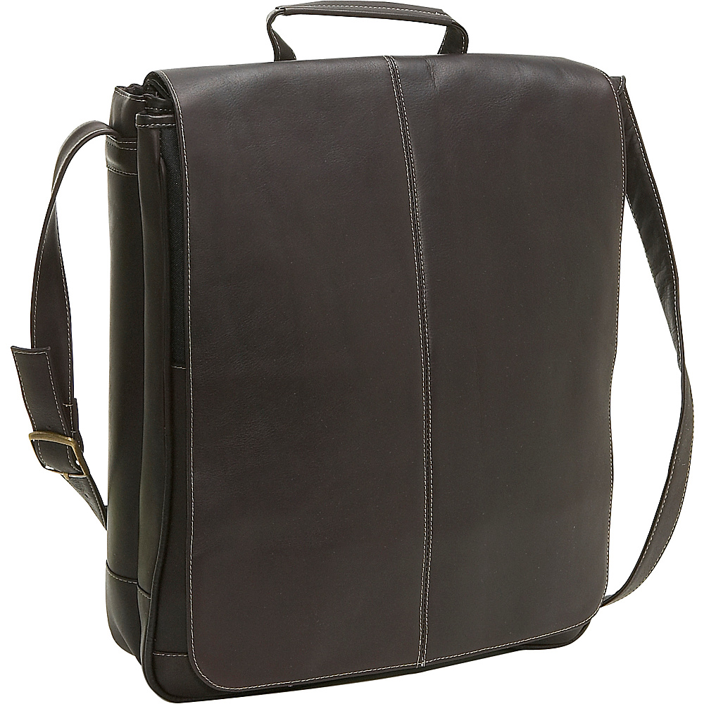 Le Donne Leather 17 Computer Messenger - Caf - Work Bags & Briefcases, Messenger Bags