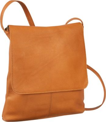 Le Donne Leather Simple Flap Over 5 Colors Cross Body Bag