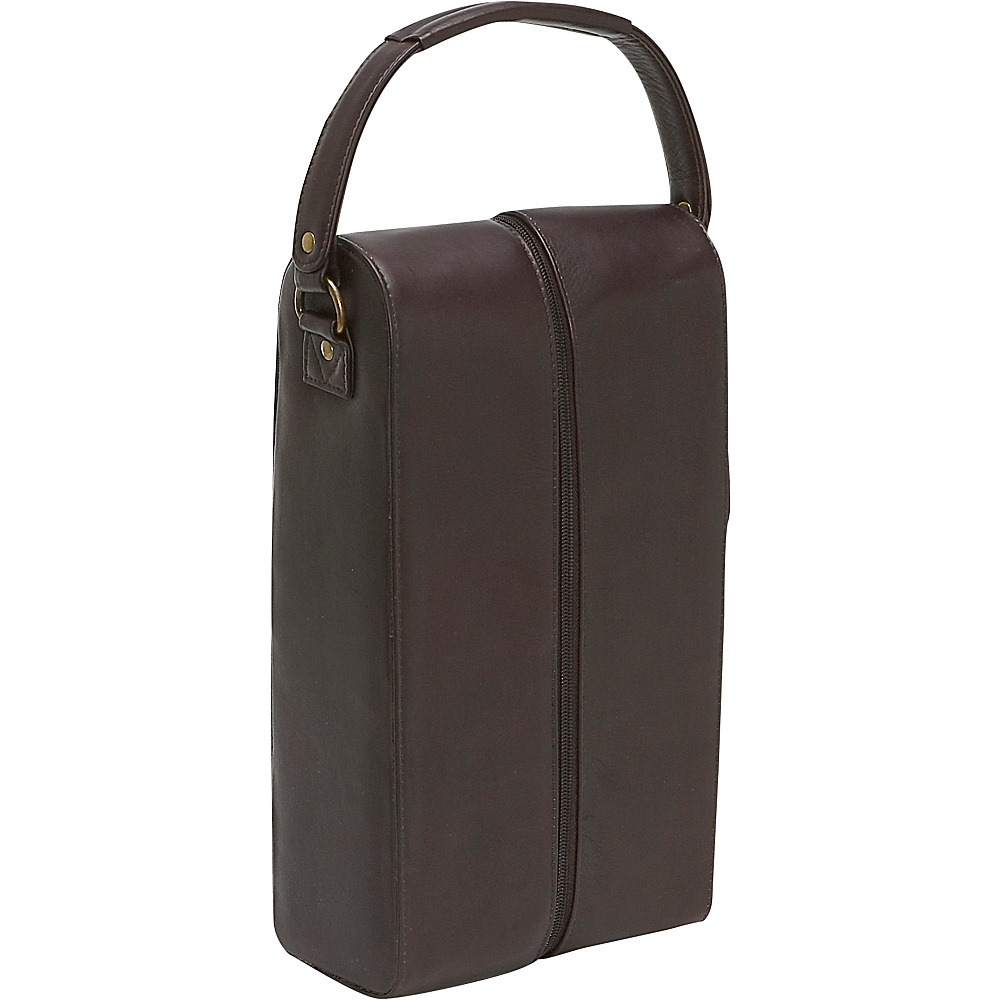 Le Donne Leather Two Bottle Wine Tote - Caf - Outdoor, Outdoor Accessories