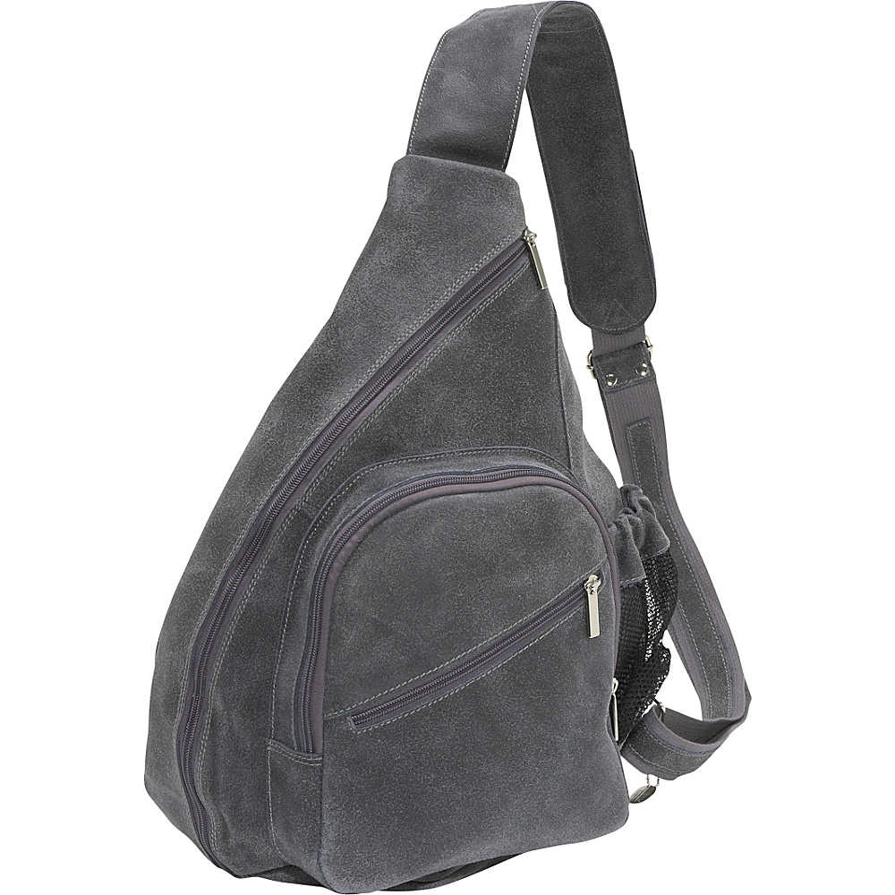 David King & Co. Distressed Leather Cross Body Bag - Backpacks, Slings