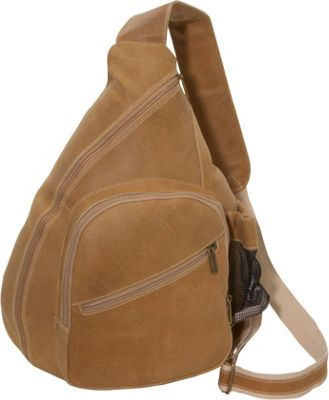 David King & Co. Distressed Leather Crossbody Bag Distressed Tan - David King & Co. Slings