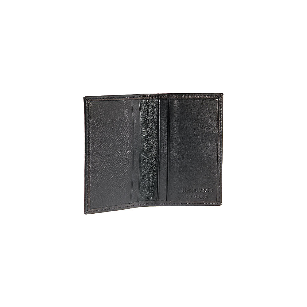Bosca Nappa Vitello Card Case Black - Bosca Mens Wallets - Work Bags & Briefcases, Men's Wallets