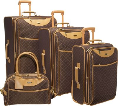 Luxury Tech Gifts Pierre Cardin Signature 4 Piece Expandable Luggage Set