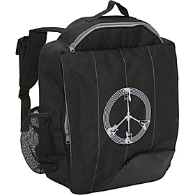 Little D Black Guitar Peace Backpack for Kids  Black With Gray
