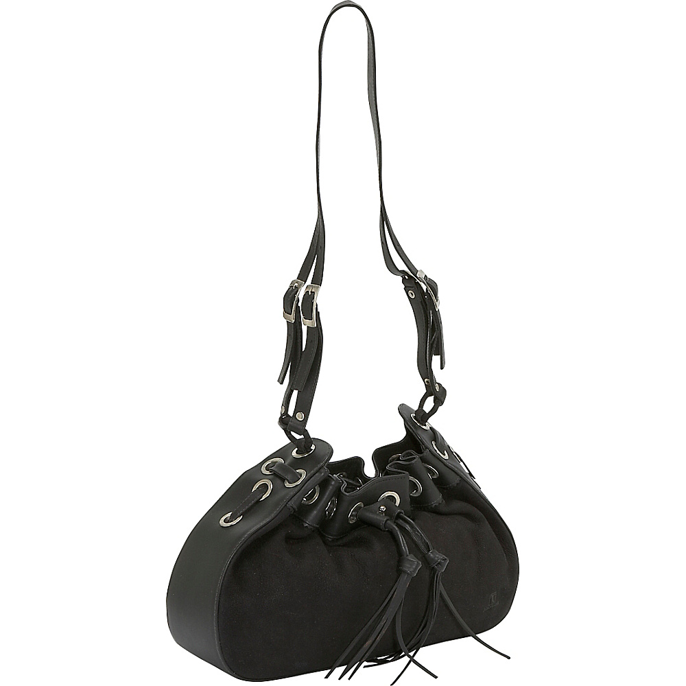John Cole Zelene - Black with Panther - Handbags, Leather Handbags