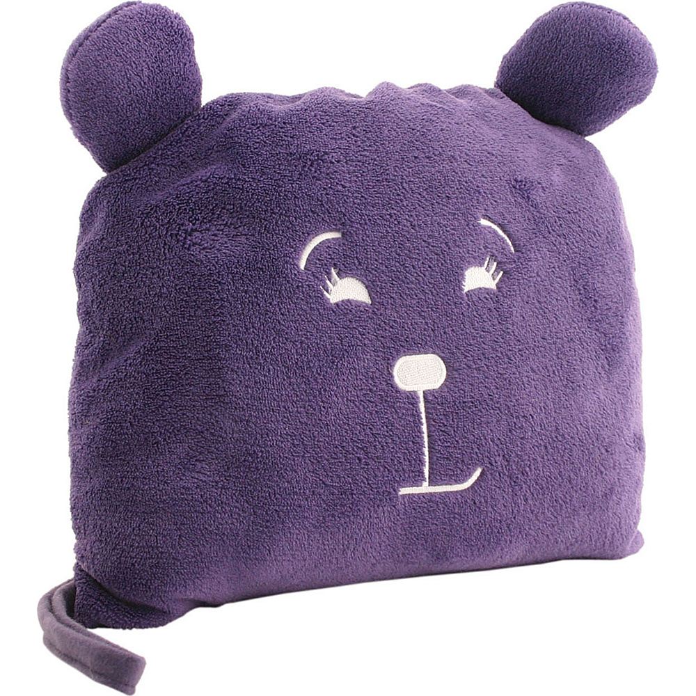 Lug Life UCB Agent Blanket Pillow Pufferton Plum