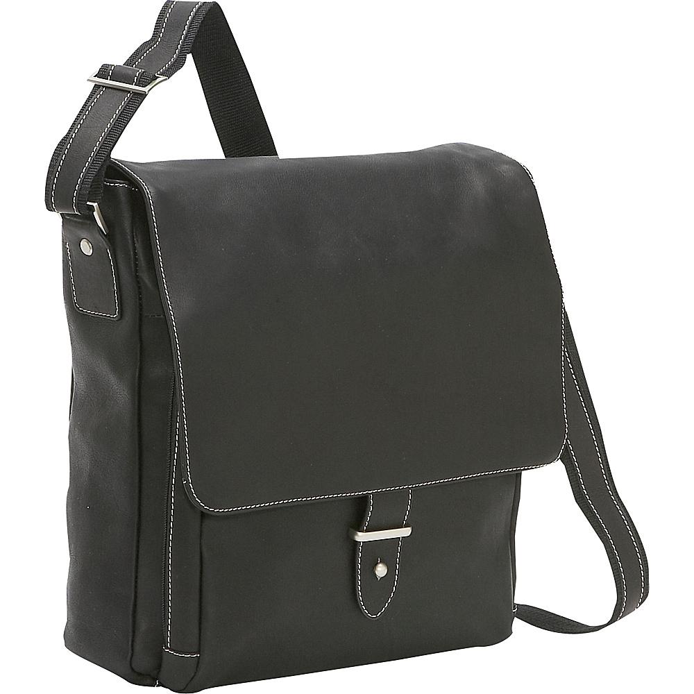 Bellino Columbia Vertical Laptop Messenger - Black - Work Bags & Briefcases, Messenger Bags