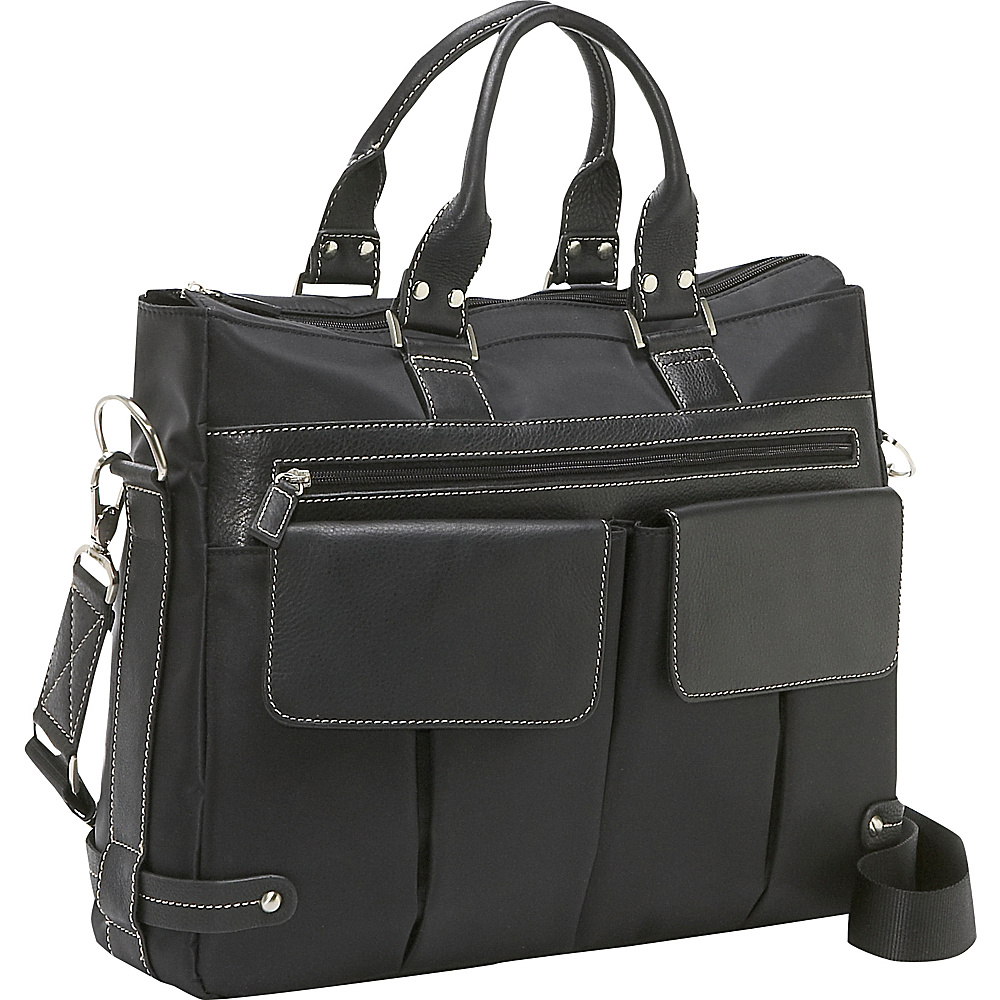 Bellino The Euro Ladies Laptop Tote - Black - Work Bags & Briefcases, Women's Business Bags