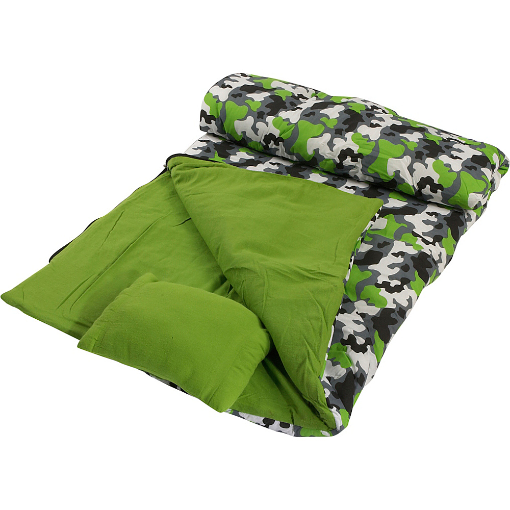 Wildkin Camouflage Sleeping Bag - Camouflage - Travel Accessories, Travel Pillows & Blankets