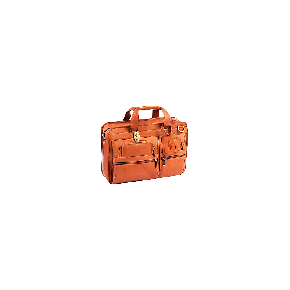 ClaireChase Slimline Executive Briefcase - Saddle - Work Bags & Briefcases, Non-Wheeled Business Cases