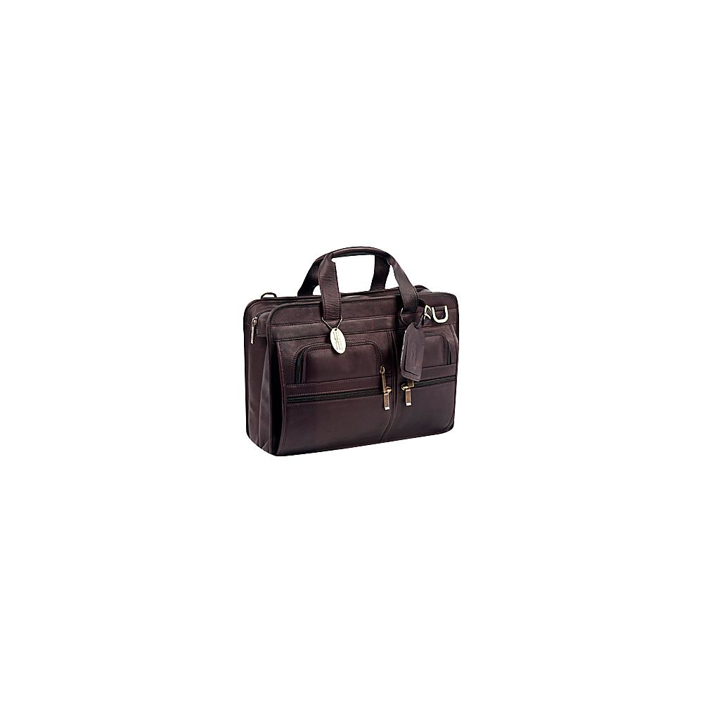 ClaireChase Slimline Executive Briefcase - Cafe - Work Bags & Briefcases, Non-Wheeled Business Cases