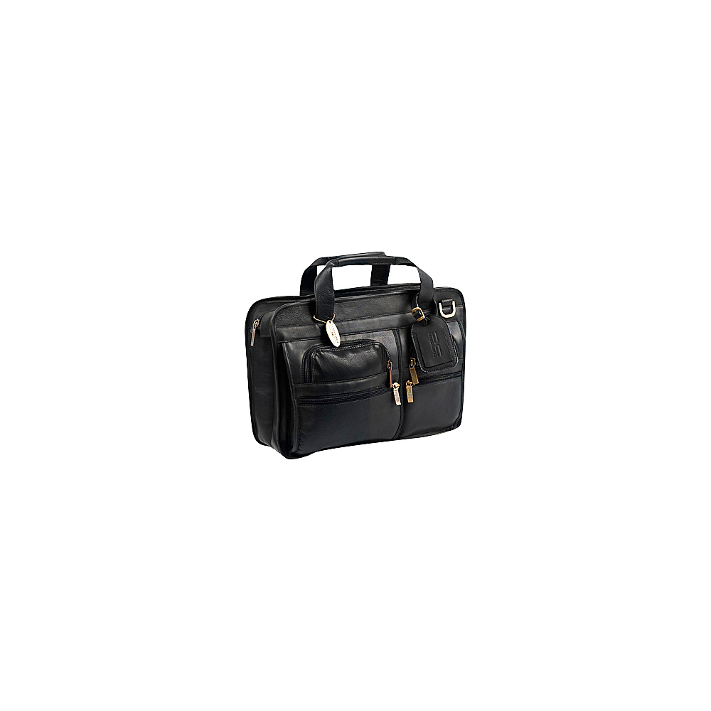 ClaireChase Slimline Executive Briefcase - Black - Work Bags & Briefcases, Non-Wheeled Business Cases