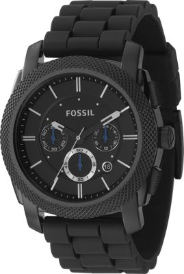 Fossil Men's black chrono molded PU - Black