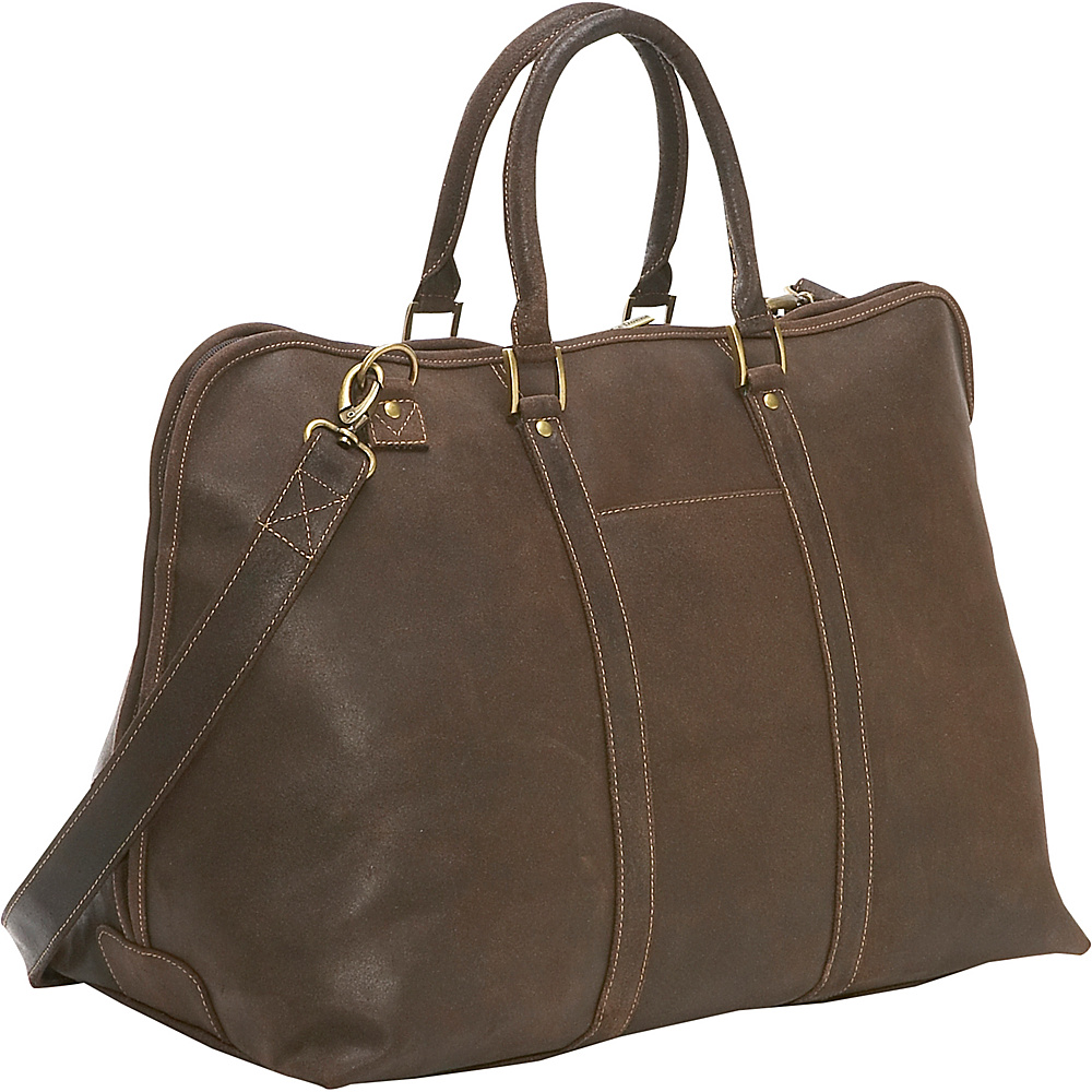 Le Donne Leather Distressed Leather Getaway Duffel
