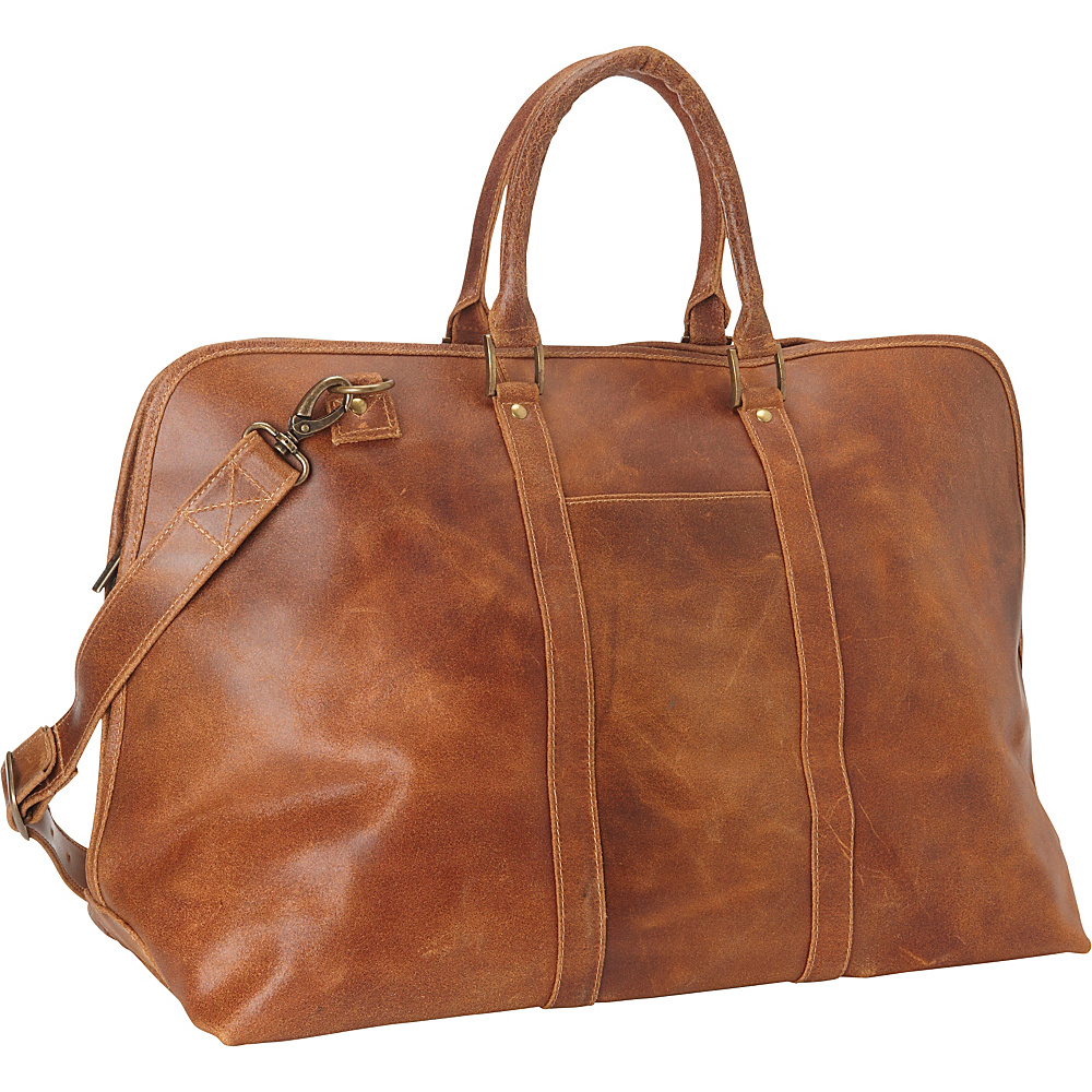 Le Donne Leather Distressed Leather Getaway Duffel Tan - Le Donne Leather Travel Duffels - Duffels, Travel Duffels