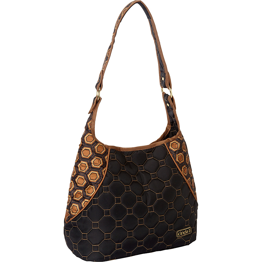 cinda b Mini Hobo Mod Tortoise cinda b Fabric Handbags