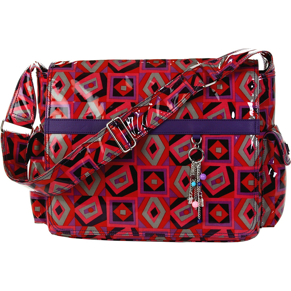 Hadaki Multitasker Laptop Pod - Tic Tac Toe Berry - Work Bags & Briefcases, Messenger Bags
