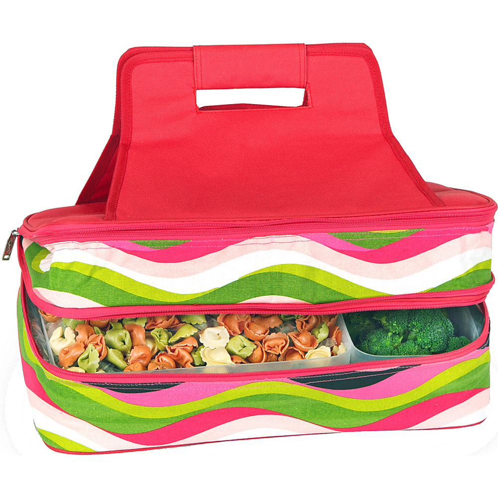 Picnic Plus Entertainer Hot & Cold Food Carrier - Wavey - Outdoor, Outdoor Coolers