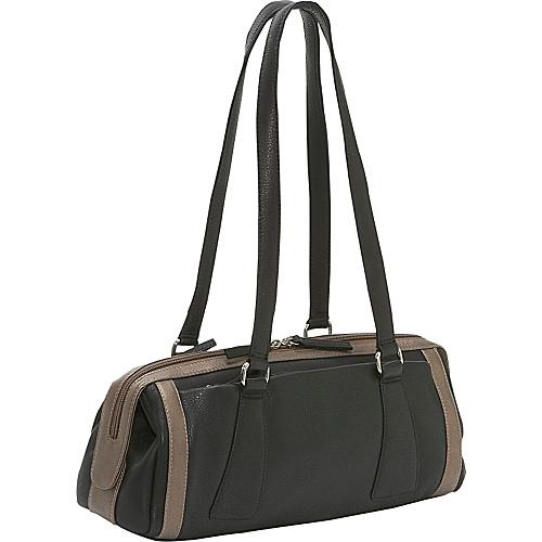 Derek Alexander Medium Duffle Handbag - Black/Bronze