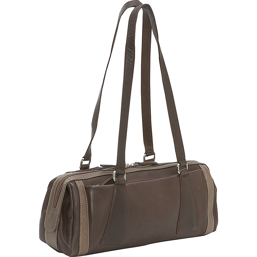Derek Alexander Medium Duffle Handbag - Brown/Bronze - Handbags, Leather Handbags