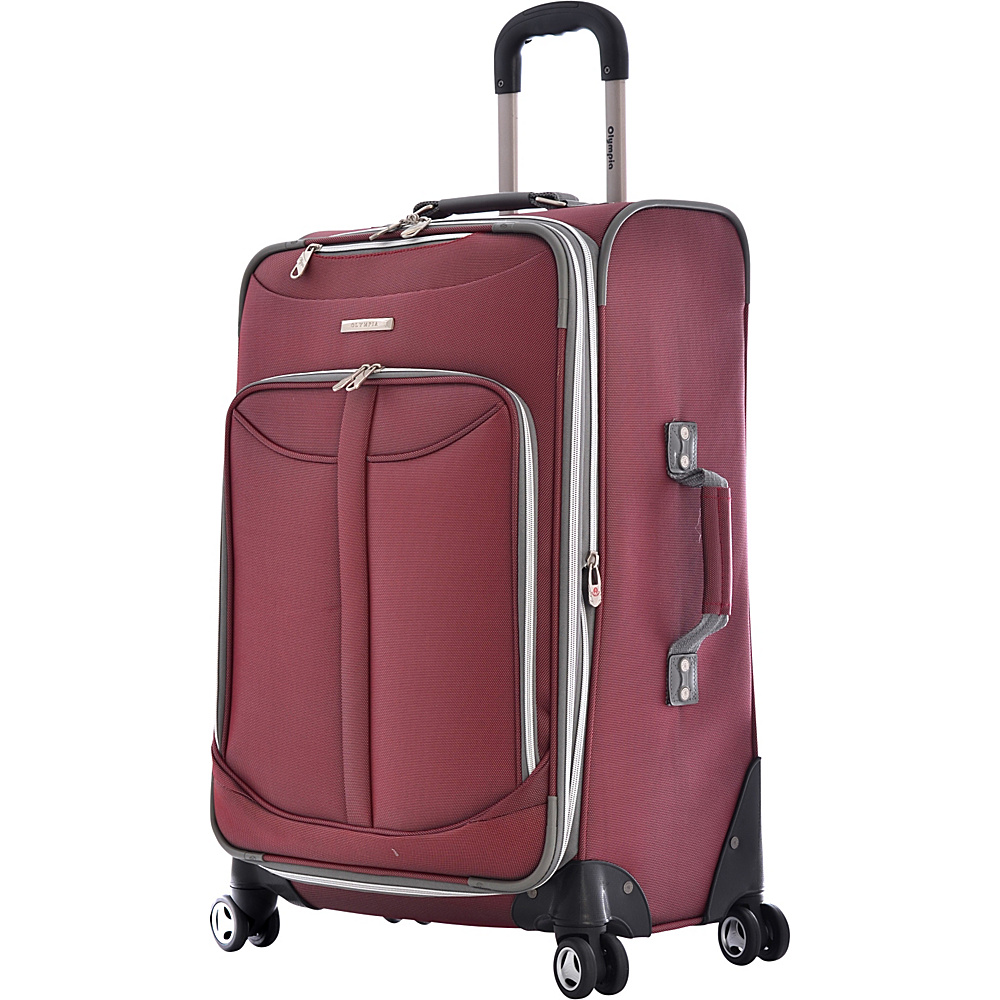 Olympia Tuscany 25 Exp. Vertical Rolling Upright - Red - Luggage, Softside Checked