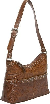 American West Heartland Zip -Top Shoulder Bag Cowgirl Gift