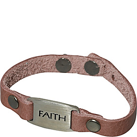 Faith Metal I.d. Bracelet Distressed Brown