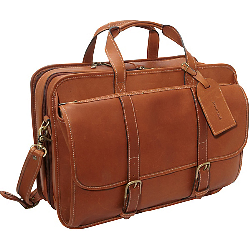 Korchmar OLIVER Expandable Checkpoint-Friendly Laptop Brief Brown - Korchmar Non-Wheeled Computer Cases