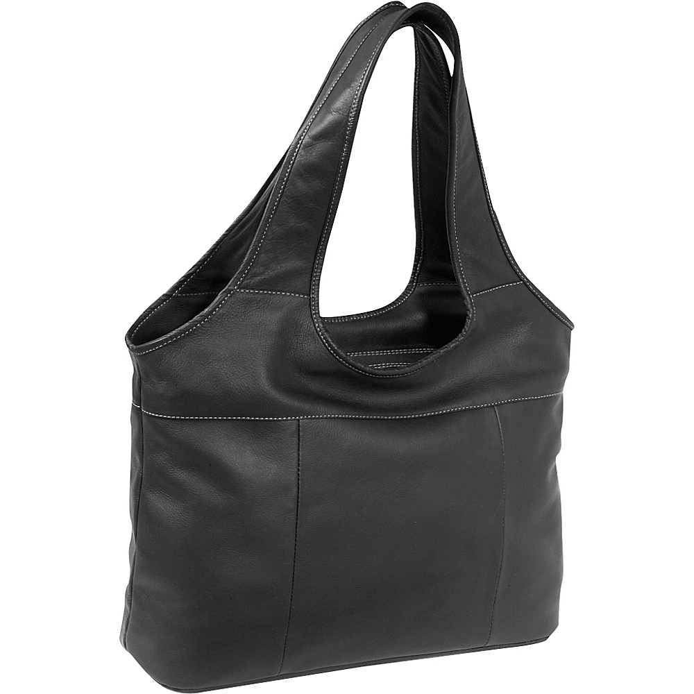 Piel Laptop Hobo - Black - Work Bags & Briefcases, Women's Business Bags