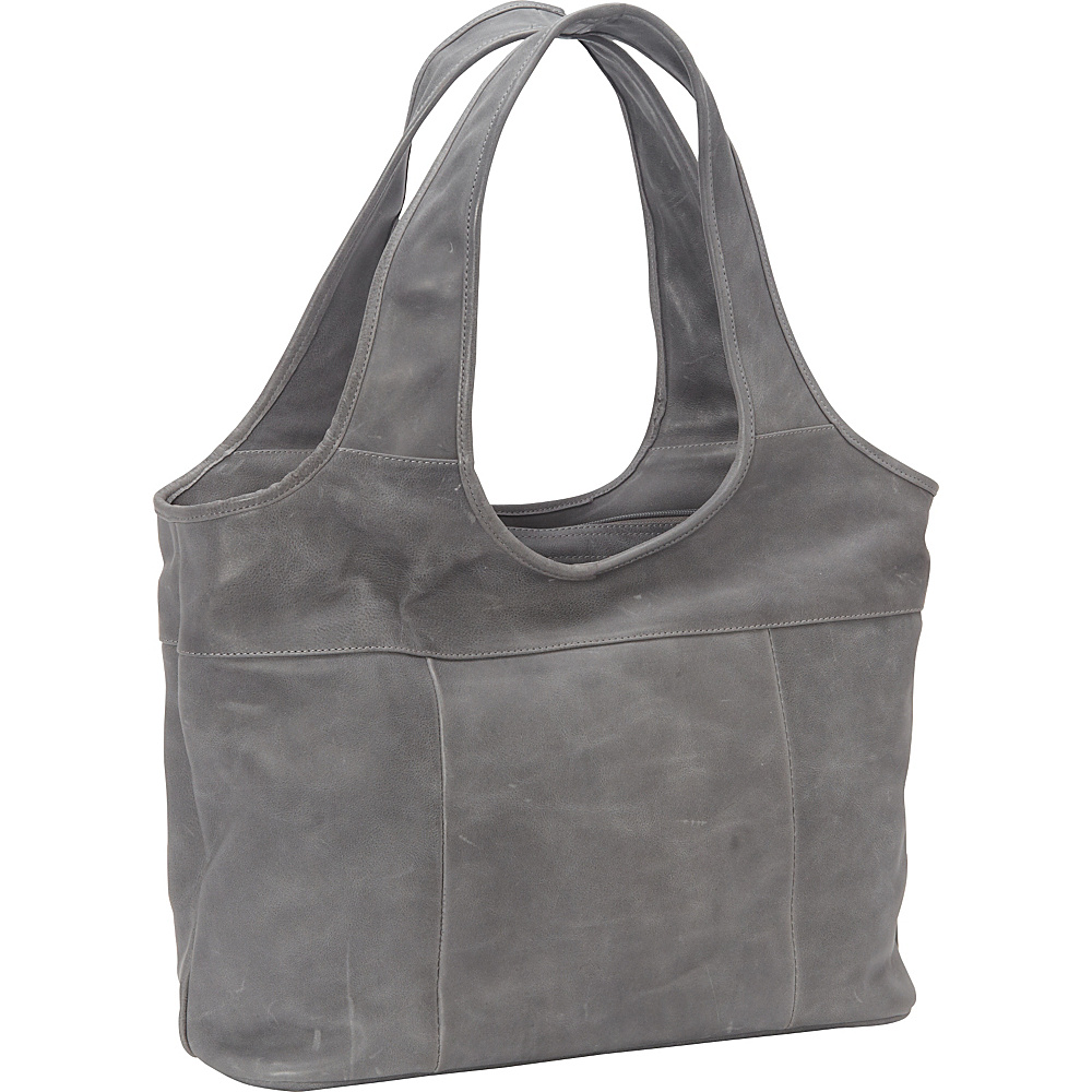 Piel Laptop Hobo- Exclusive Colors Charcoal - eBags Exclusive - Piel Womens Business Bags - Work Bags & Briefcases, Women's Business Bags