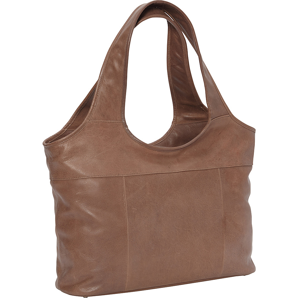 Piel Laptop Hobo- Exclusive Colors Toffee- eBags Exclusive - Piel Womens Business Bags - Work Bags & Briefcases, Women's Business Bags