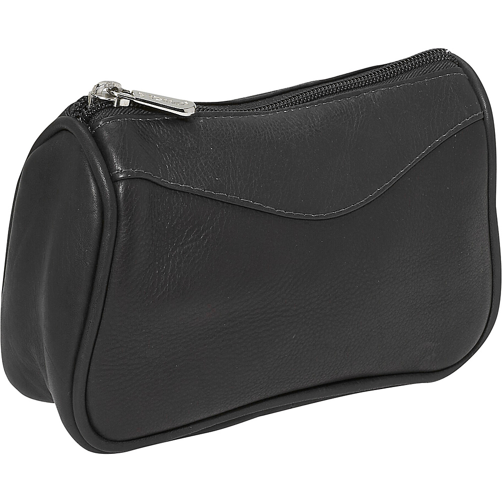 Piel Carry All Zip Pouch Black