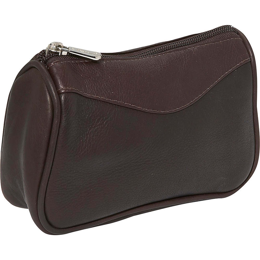 Piel Carry-All Zip Pouch - Chocolate - Travel Accessories, Toiletry Kits