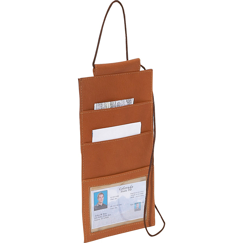 Piel Hanging Travel Wallet Saddle