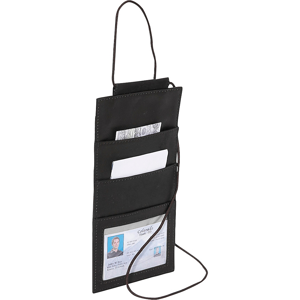 Piel Hanging Travel Wallet - Black - Travel Accessories, Travel Wallets
