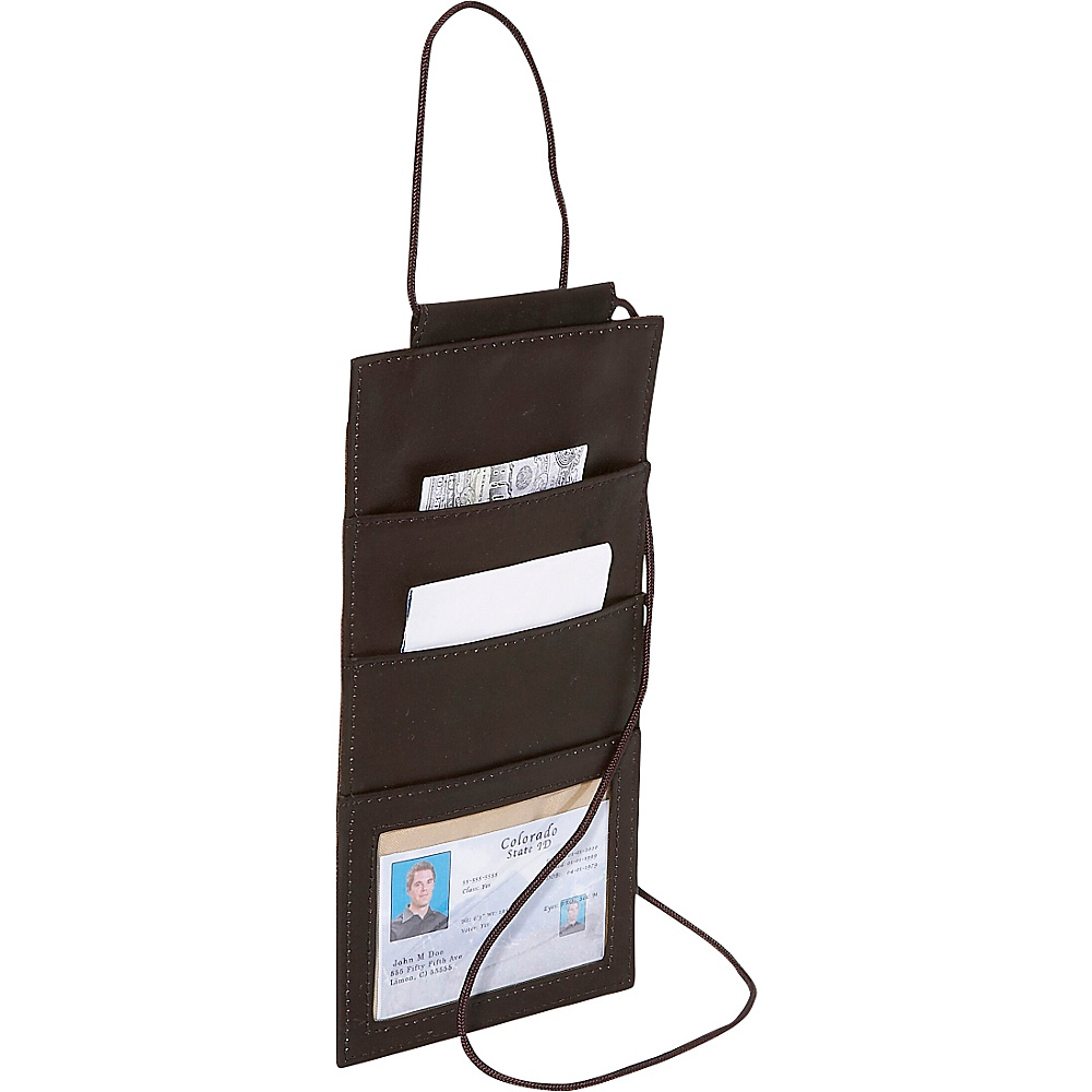 Piel Hanging Travel Wallet - Chocolate - Travel Accessories, Travel Wallets