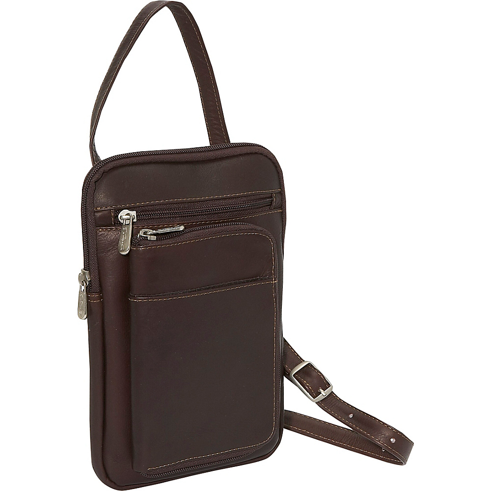Piel Hanging Travel Organizer Chocolate