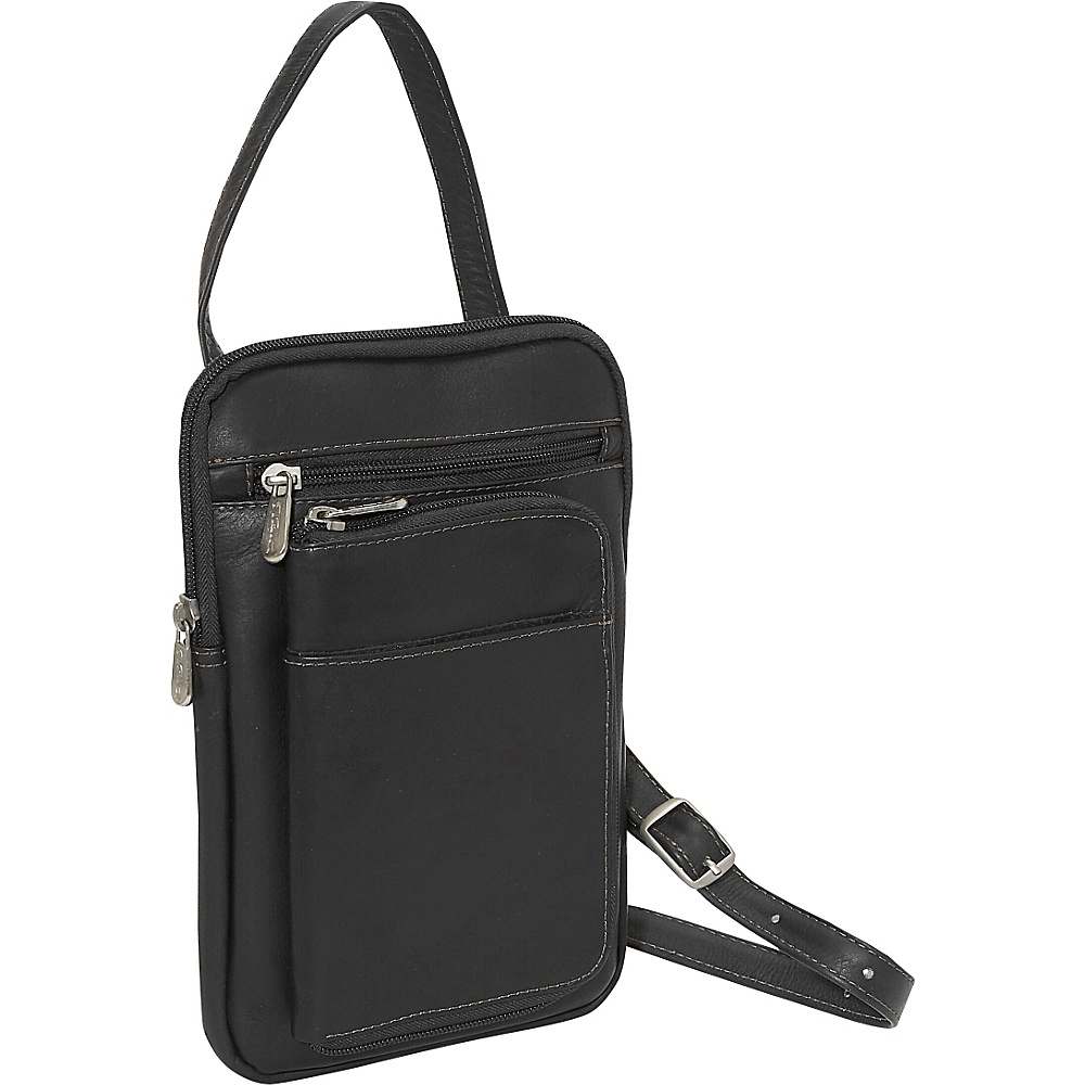 Piel Hanging Travel Organizer Black