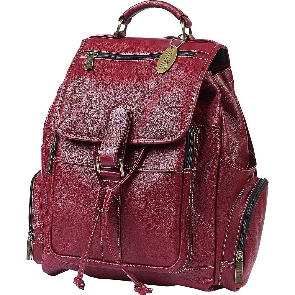 ClaireChase Uptown Bak Pack Red ClaireChase Everyday Backpacks