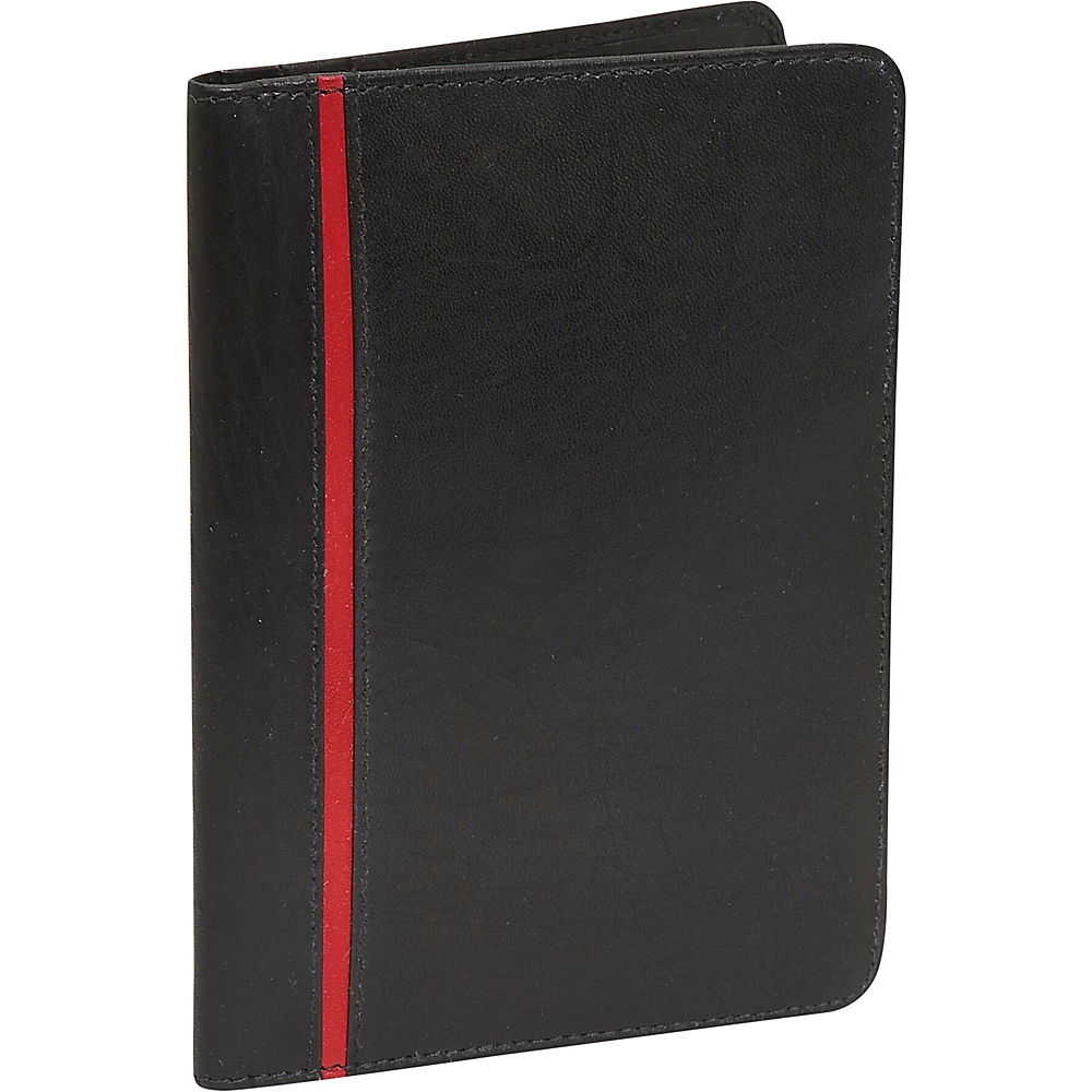 Rogue Wallets RFID Passport - Black with Red Stripe
