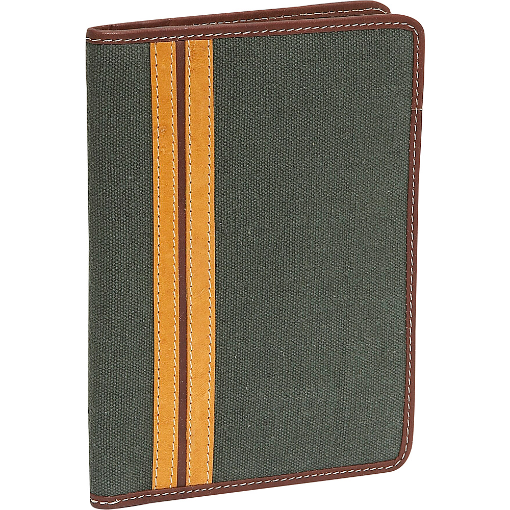 Rogue Wallets RFID Passport Green Canvas