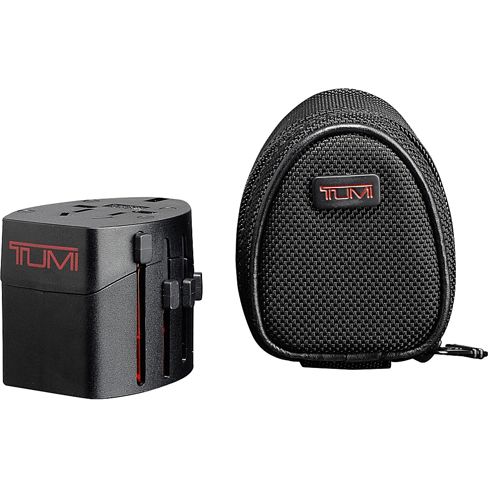 Tumi Electric Adaptor with Ballistic Pouch - Black - Technology, Electronic Accessories
