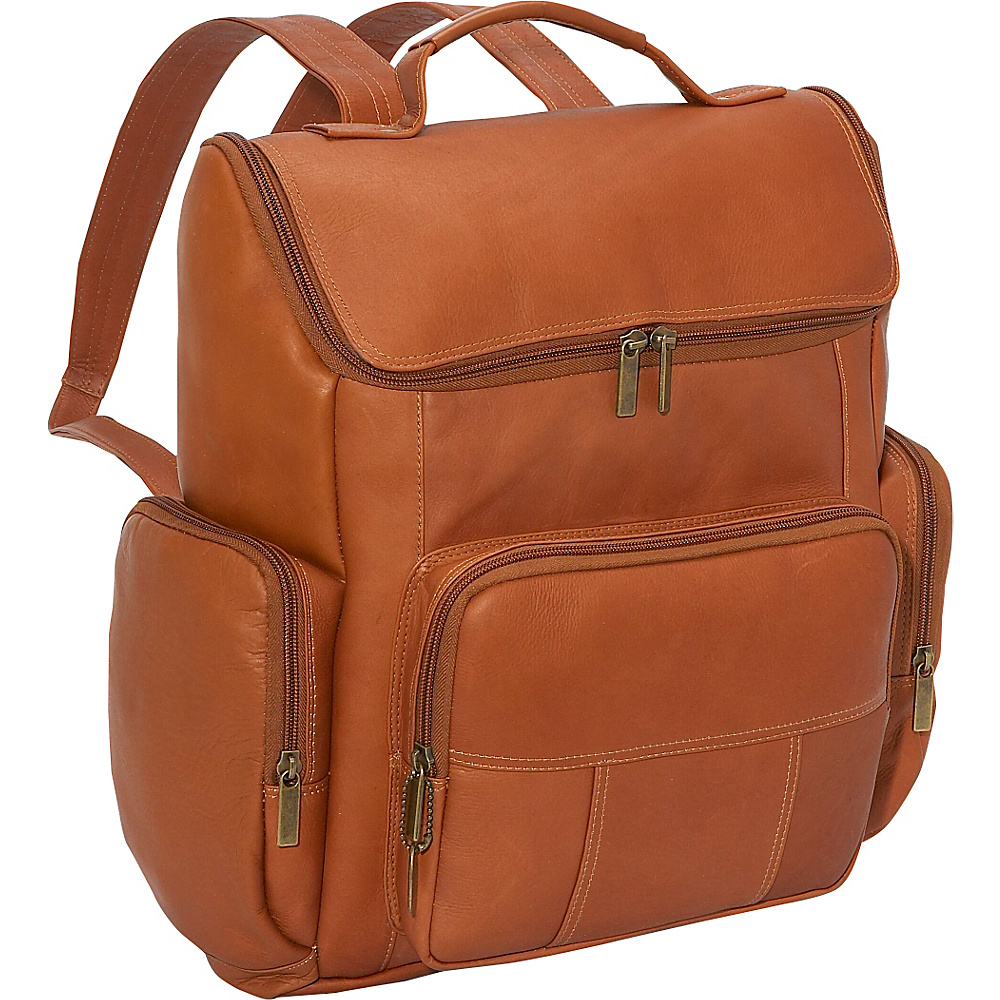 David King Co. Multi Pocket Laptop Backpack Tan