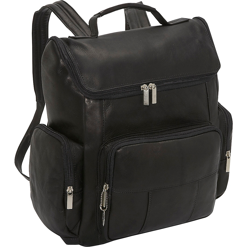 David King & Co. Multi Pocket Laptop Backpack - Black - Backpacks, Business & Laptop Backpacks
