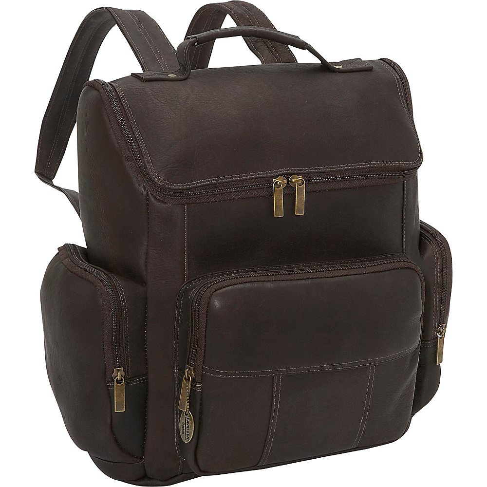 David King & Co. Multi Pocket Laptop Backpack Cafe - David King & Co. Business & Laptop Backpacks - Backpacks, Business & Laptop Backpacks
