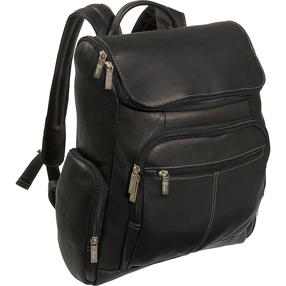 Royce Leather Laptop Backpack Black