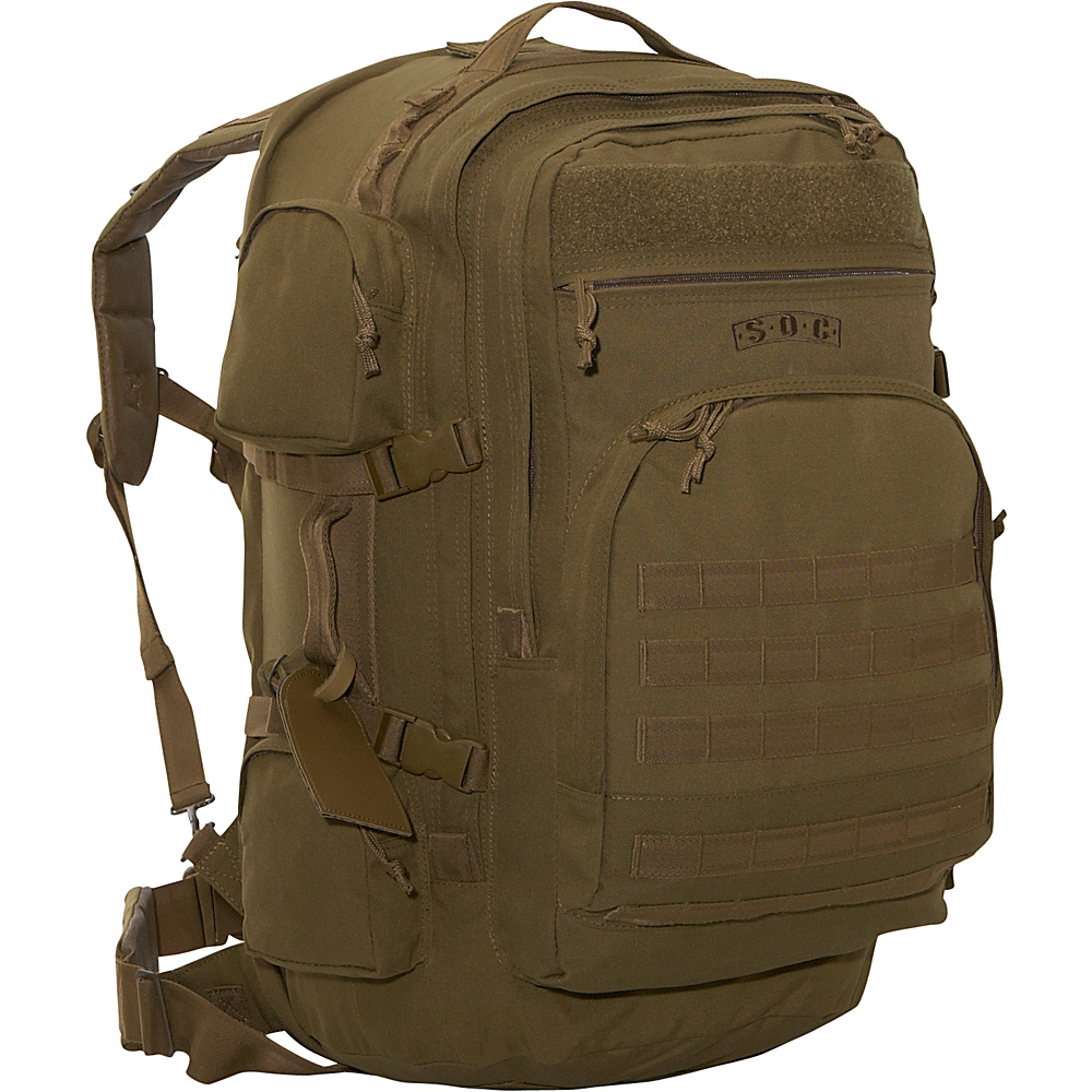 SOC Gear Long Range - 1,000 Denier - Coyote Brown, - Backpacks, Everyday Backpacks