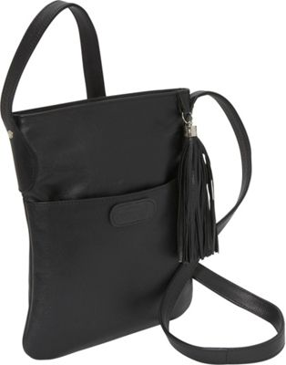 Leatherbay Large Crossbody Black - Leatherbay Leather Handbags