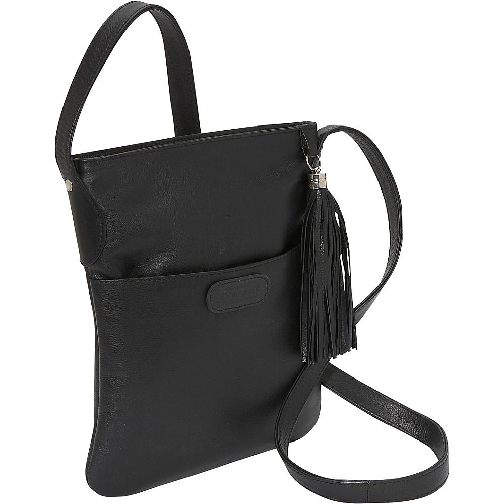 Leatherbay Large Crossbody Black - Leatherbay Leather Handbags - Handbags, Leather Handbags